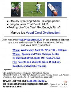 Vocal Cord Dysfunction flyer