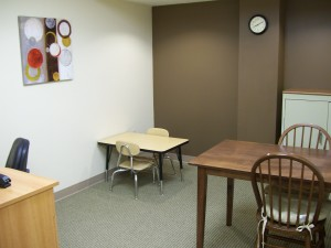 Speech therapy room