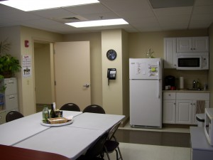 Lunch room and kitchen